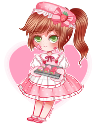 Rosey's Strawberry Cookies by Tokyo-Dollie