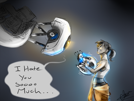 :Portal 2: I Hate You by Rozen-Clowd