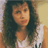 Pixelated Kirk Hammett  by Enderpony626