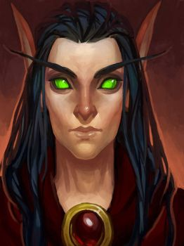 Blood Elf Magister by Soleilloo
