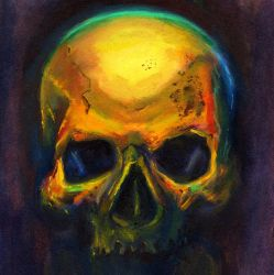 Golden Skull by AresNeron