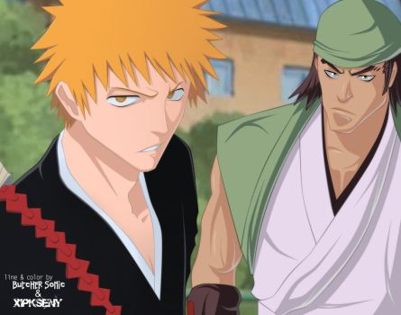 Bleach 85.Collab.Ichigo and Ganju by XipKseny