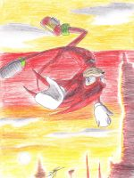 CR- Knuckles Sunset by payero01