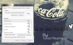 Cursor Black And White !!! By-Tutos Moustache- by MoustacheDesings