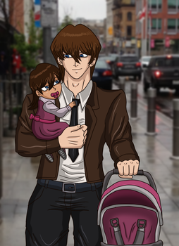 A walk with daddy by AnaPaulaDBZ