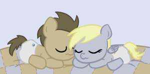 Baby Derpy and Doctor by lilliesinthegarden