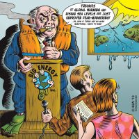 Global Warming Cartoon by Huwman