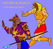 Anubis and Horus Comedians by GalaxyZento