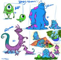 Baby Monsters Inc by J-Spence