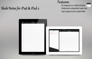 Sleek Notes iPad UI by PauloRuberto