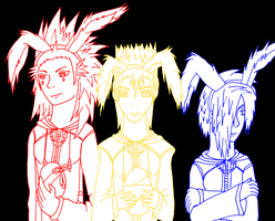 easter bunnies coloured by fanfiction-fanatic