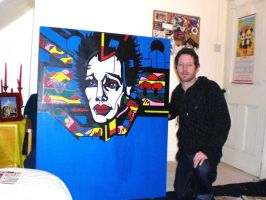 PAINTING OF EIGHTBALL 3 AND ME by L-A-K-ART