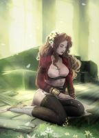 Steampunk Aerith by Wingless-sselgniW