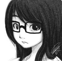 Glasses girl with long hair by reijubv