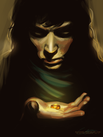 Day 10: Frodo and the Ring speedpaint by Ralenore