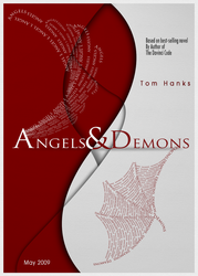 Angels and Demons Typographic by 32-D3519N
