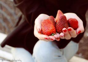 Strawberry lover. by Bunnis