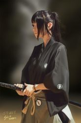 Samurai Girl Study by raikoart