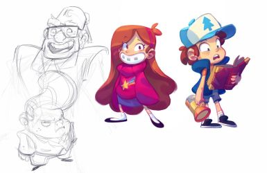 Dipper, Mabel and Crew! by nicholaskole