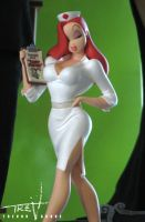 Tummy Trouble Jessica Rabbit by TrevorGrove