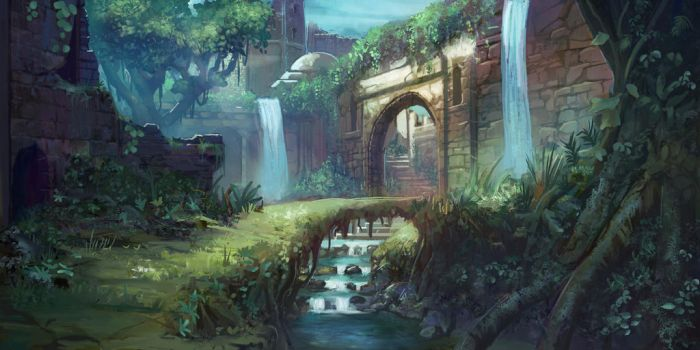 forest temple concept by TylerEdlinArt