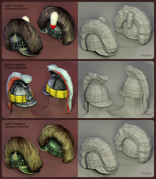 British helmets: Render + mesh by SteMega