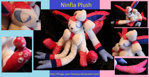 Sylveon (Ninfia) Plush by Forge-Your-Fantasy