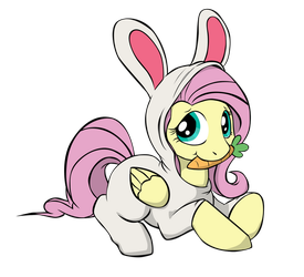 Fluttershy as Bunny vector by Sueroski