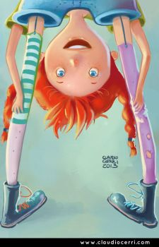 Pippi Longstocking by claudiocerri