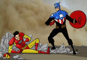 Captain America Victorious by tyrannus