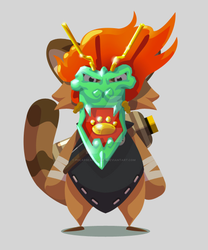 Chinese Dragon mask by polarbeardgames
