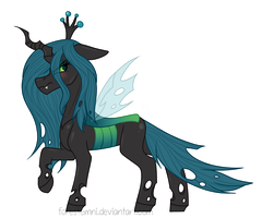 Queen Chrysalis Sticker + Speedpaint! by Forestemni