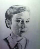 Self Portrait (pencil) by EnigmaticDoodle