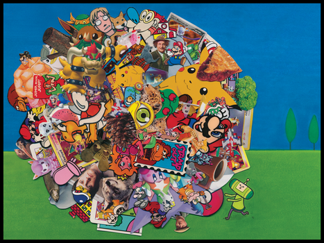 Katamari Collage by Yamallow