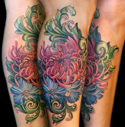 chrysanthemum and filigree by Phedre1985