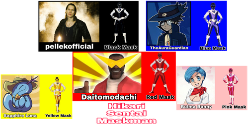 Maskman Portrayed by [More] Youtubers by Tabacookie