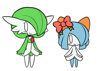 Airalin and Serene Chibis by RakkuGuy