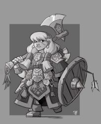 Dwarf Fighter by cwalton73