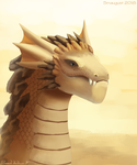 Smaugust #15 - Desert dragon by Floverale-Hellewen