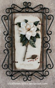 Magnolia Decoration 1 by Stickfishies-Stock