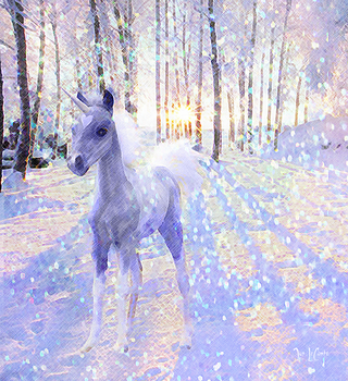 Winter Unicorn by jantheempress