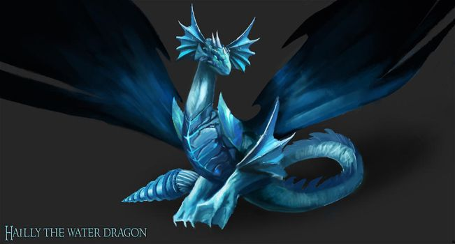 Hailly the water dragon (Commission) by Jackiefelixart