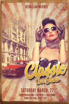 Retro Car Poster by whimsicalBlue