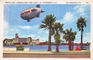Good Year Blimp Over St. Petersburg FL by Yesterdays-Paper