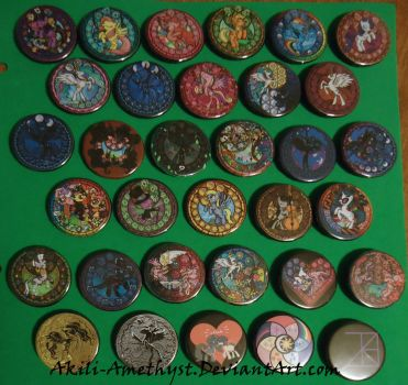 MLP Buttons by Akili-Amethyst