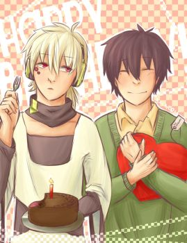 Happy Birthday to you, Haruka and Konoha! by Bacardie