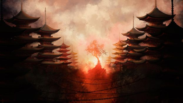 Japanese Temples by touchedbyred