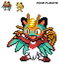 Meowth X Hawlucha by PokemonMasterART