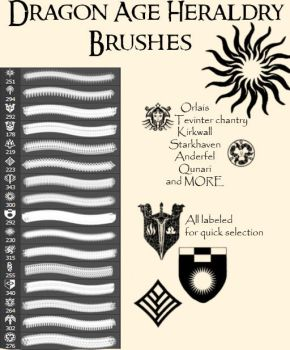 Dragon Age Heraldry Brushes by Korbeaux
