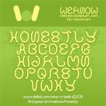 Honestly font by weknow by weknow